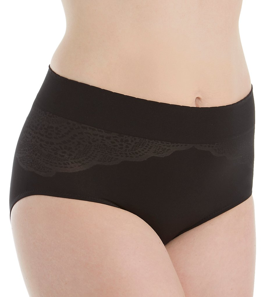 Warners - Warners RS3244P Cloud 9 Seamless Brief Panty (Black S)