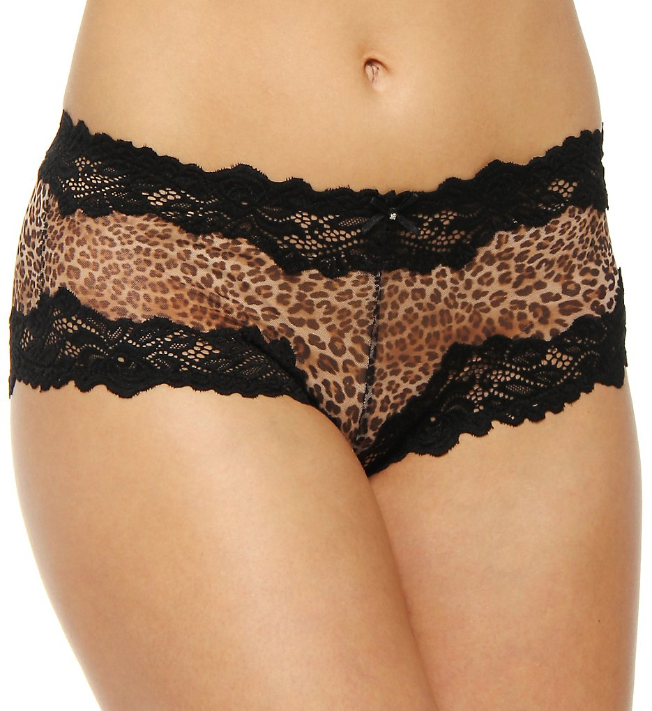Whimsy by Lunaire : Whimsy by Lunaire 15232 Barbados Sexy Basic Boy Short Panty (Animal Print S)