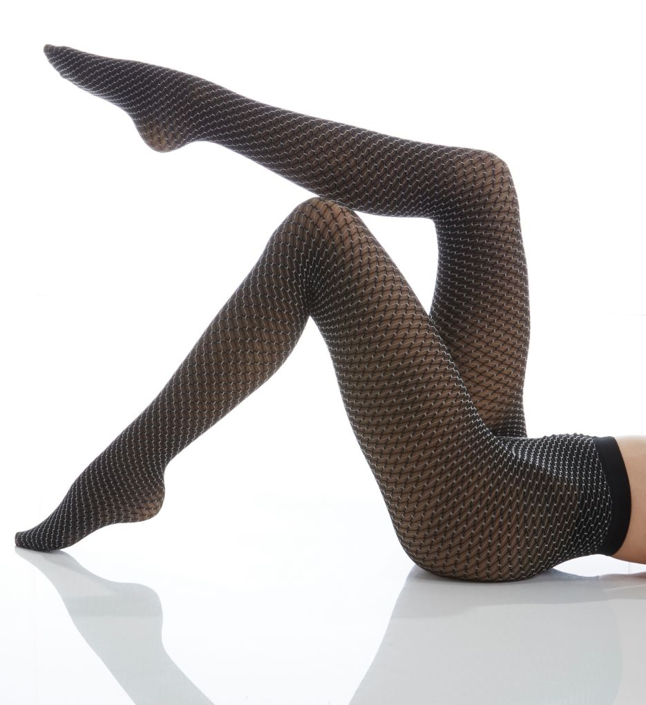 Wolford Cilou Two-Tone Net Tights