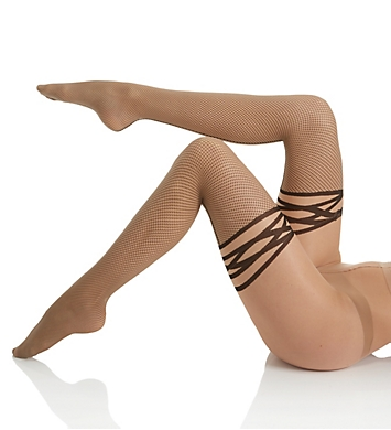 Wolford Katy Faux Cuff Net Tights