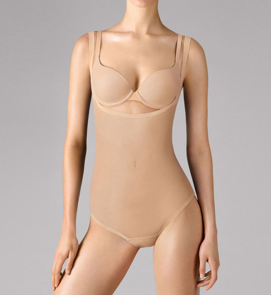 Wolford Tulle Forming String Torsette Bodysuit
