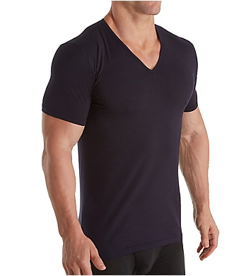 Zimmerli Linear Compositions Cotton V-Neck T-Shirt