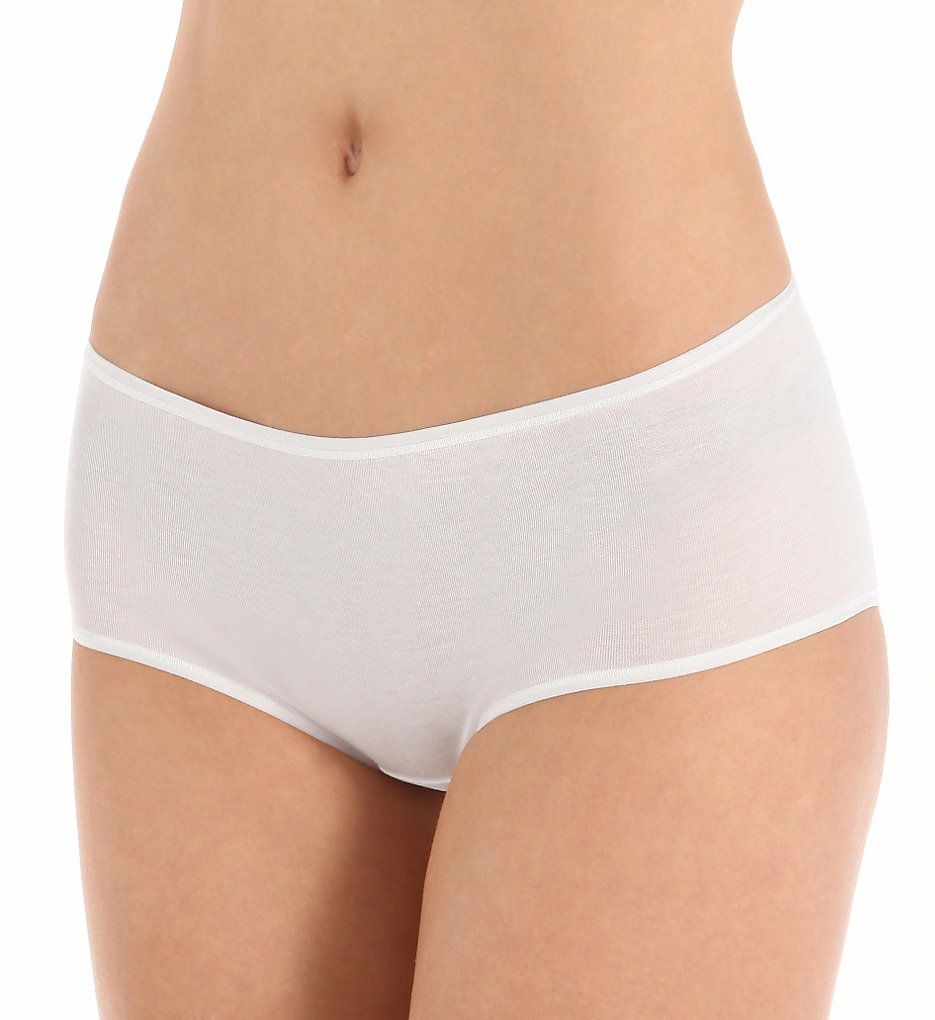 Zimmerli (2662145) - Zimmerli 2662145 Cotton De Luxe Low Hipster Panty (White L)