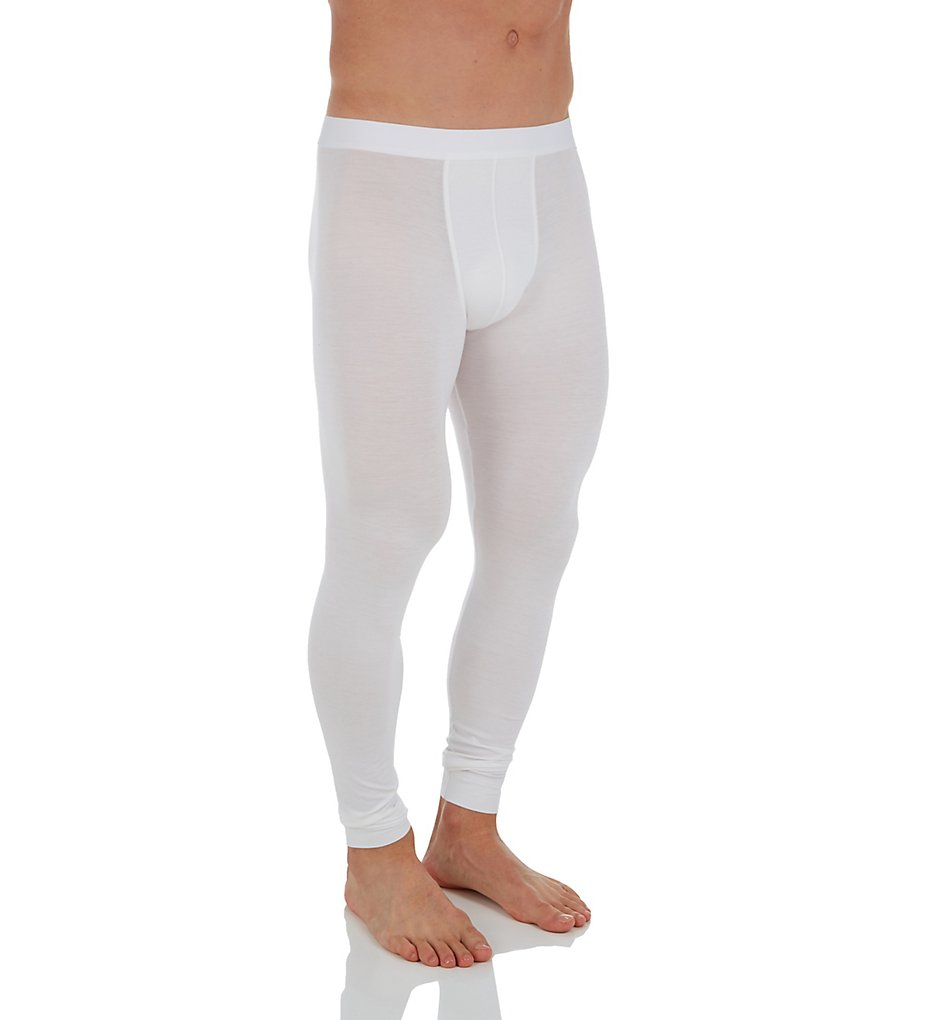 Zimmerli 7001349 Pureness Micromodal Blend Long John Bottom (White XL)
