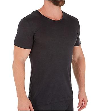 Zimmerli Wool & Silk Blend Crew Neck T-Shirt