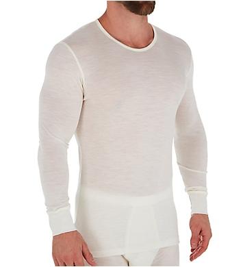 Zimmerli Wool & Silk Blend Long Sleeve T-Shirt