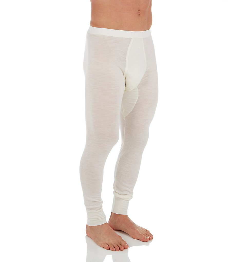 Zimmerli 7101452 Wool & Silk Blend Long John (Ecru XL)