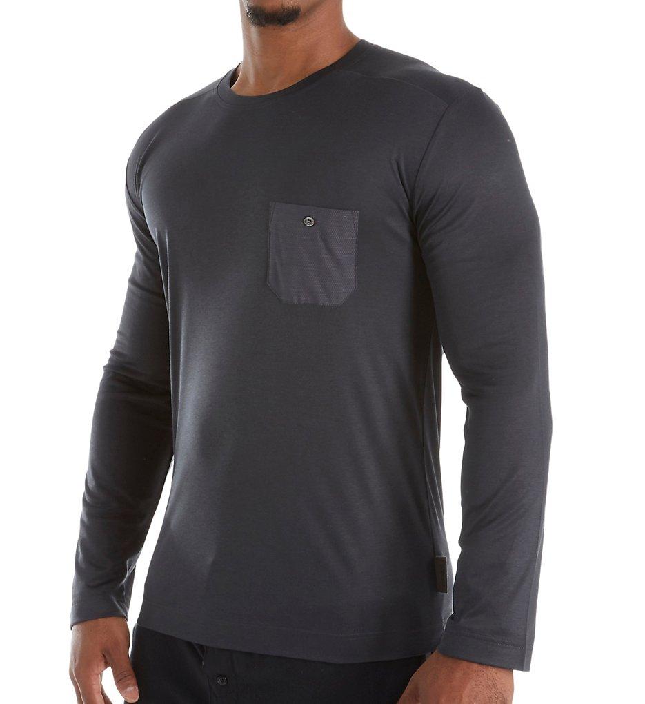 Zimmerli 8520-90 Modern Lounge Long Sleeve T-Shirt (Phantom XL)
