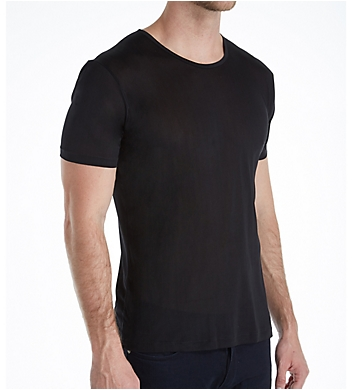 Zimmerli Raw Charmeuse Silk De Luxe Crew Neck T-Shirt